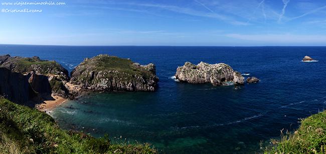 Playa Somocuevas Costa de Cantabria