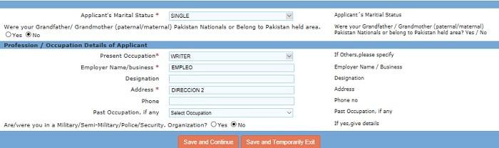 visado online india