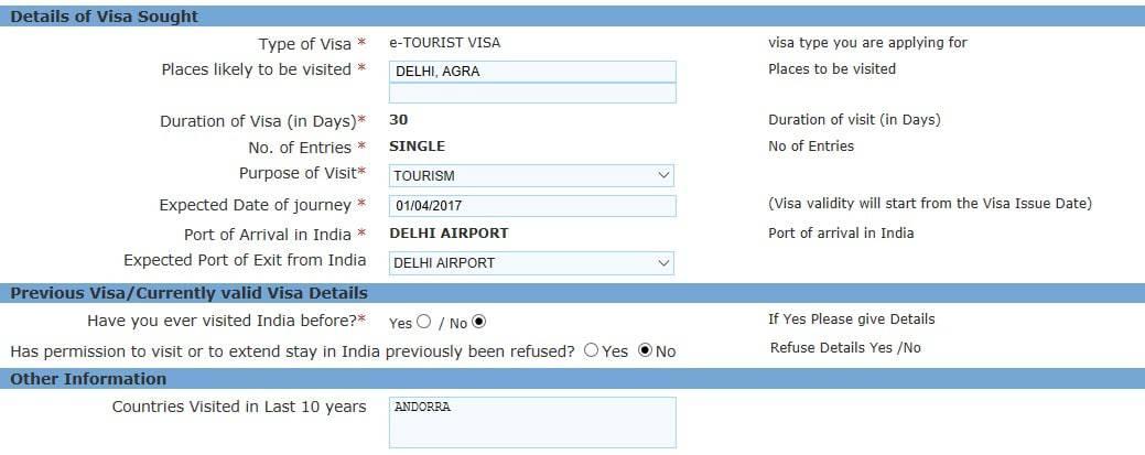 visadon online india