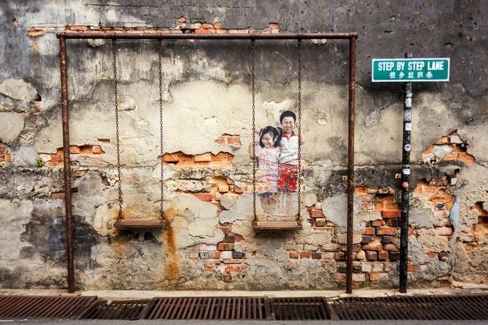Street Art en Penang -Mapa arte callejero George Town