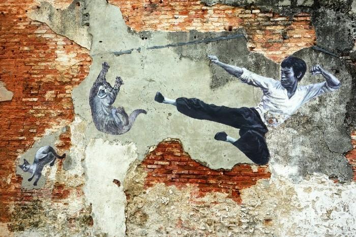 Mapa arte callejero George Town