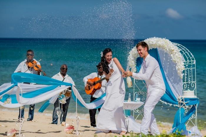 Boda en el caribe