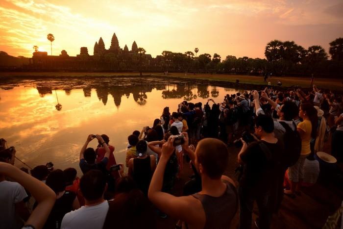 amanacer en Angkor