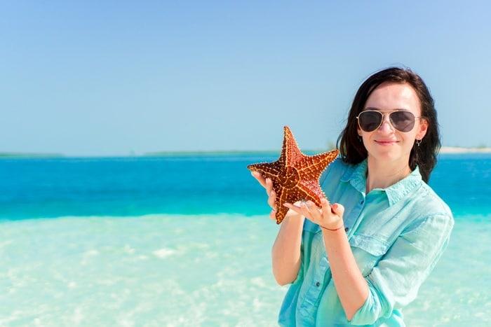 tocar estrellas de mar