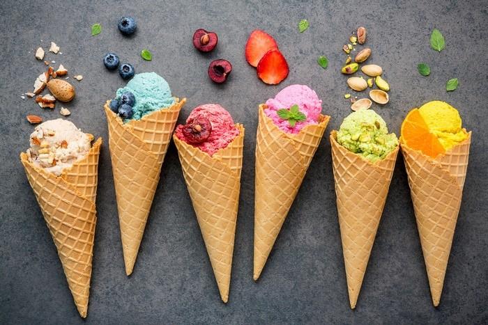 helados en Bolonia