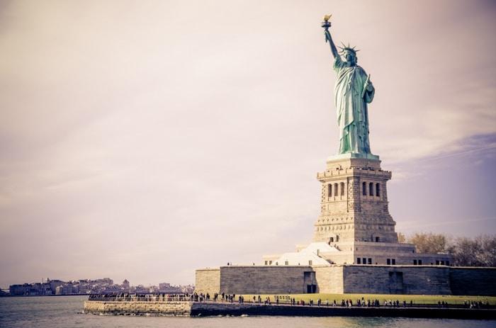 La Estatua de la Libertad, Estados Unidos