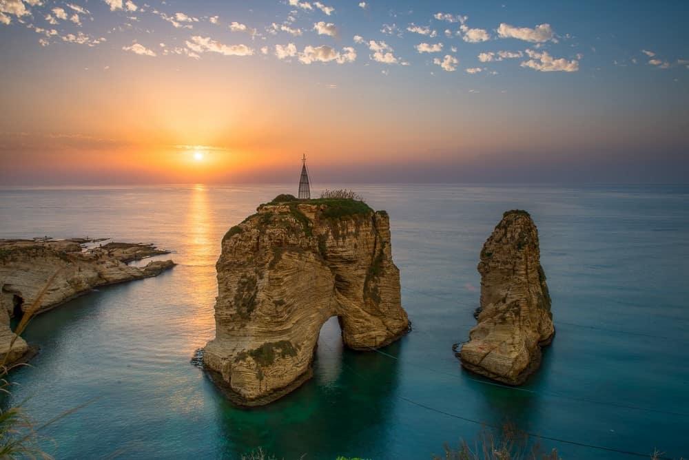 Pigeon Rocks en Beirut