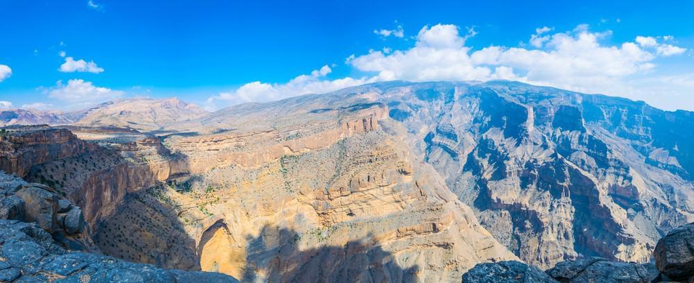 Jebel Shams en un viaje a Omán
