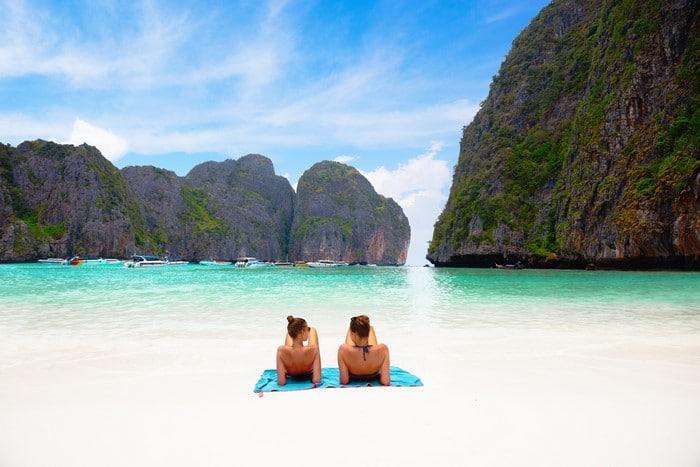 expectativa vs realidad Maya Bay Tailandia