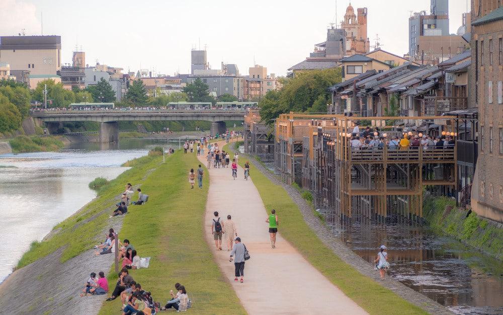 restaurantes del río de Kioto