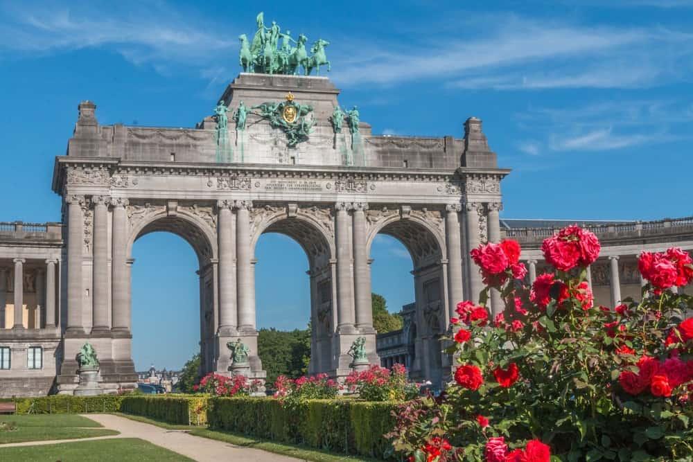 Parque del Cincuentenario y el Arco del Triunfo de Bruselas
