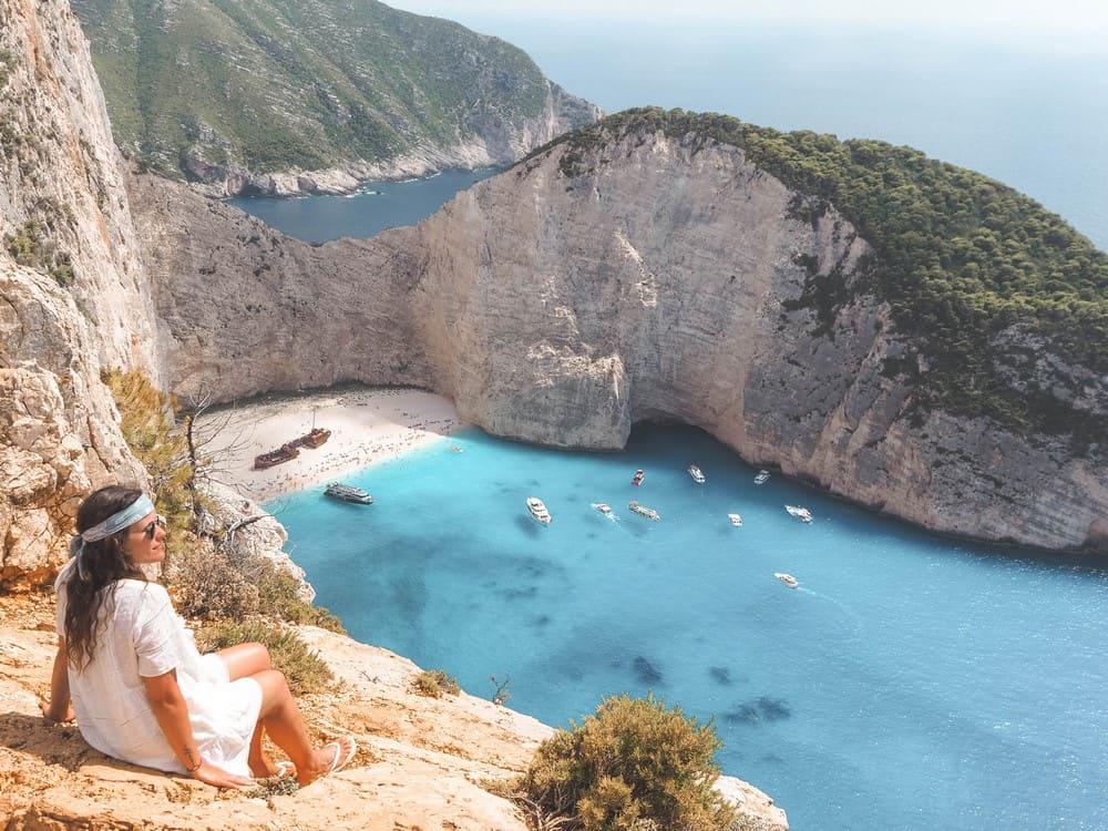 Grecia y la playa de Zakynthos