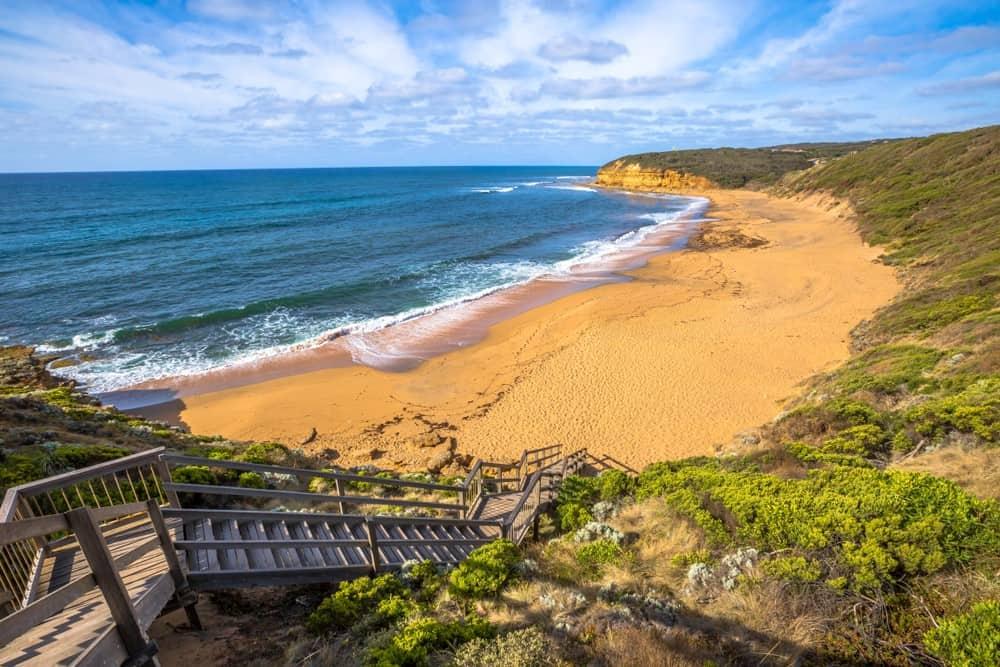 playa Bells Beach para hacer surf