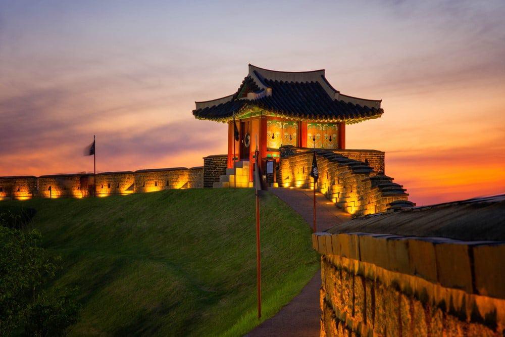 Visitar la fortaleza Hwaseong en Suwon