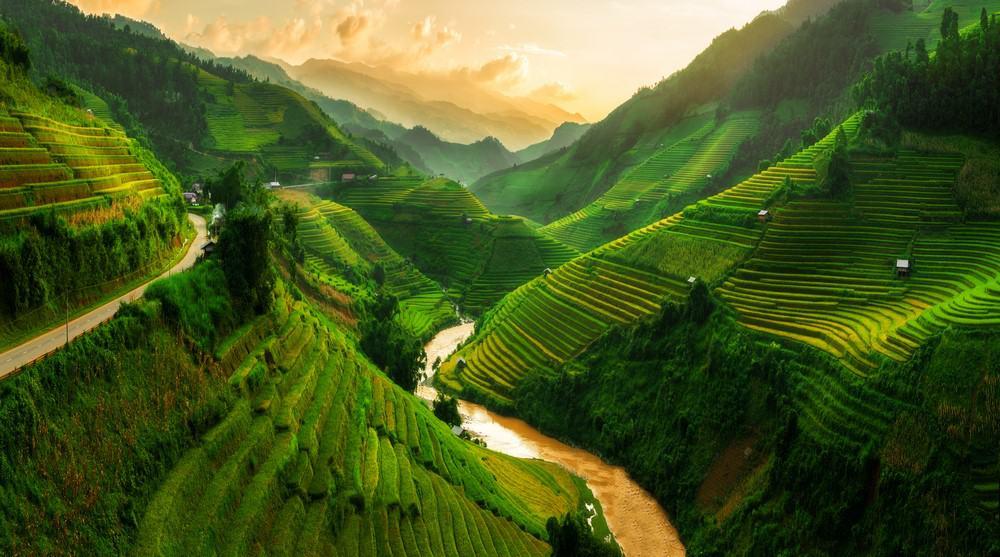 arrozales de Mu Cang Chai en Vietnam