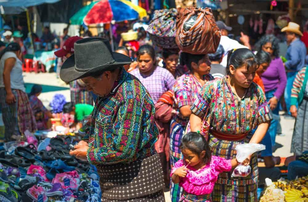 Mercado de Chichicastenango en Guatemala