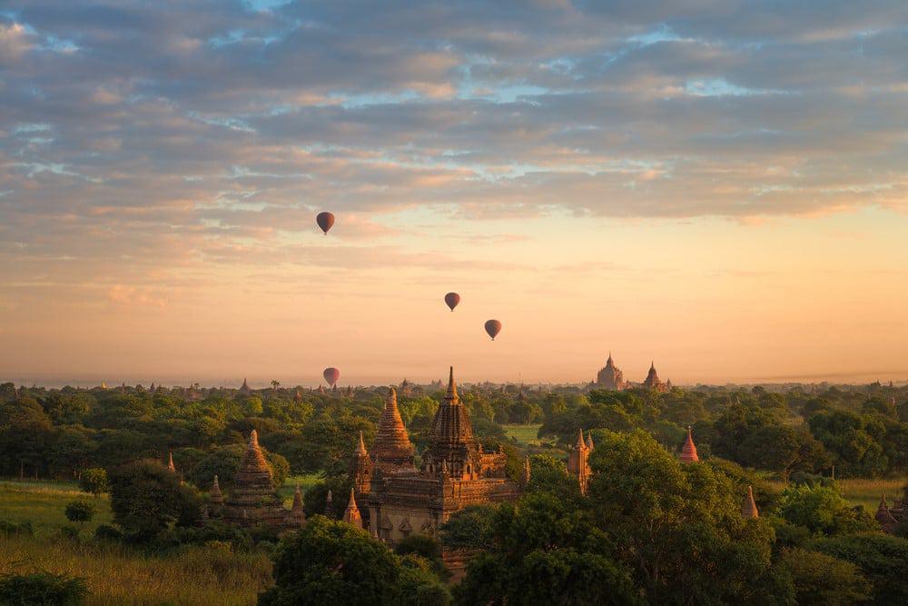 vuelo en globo en Myanmar