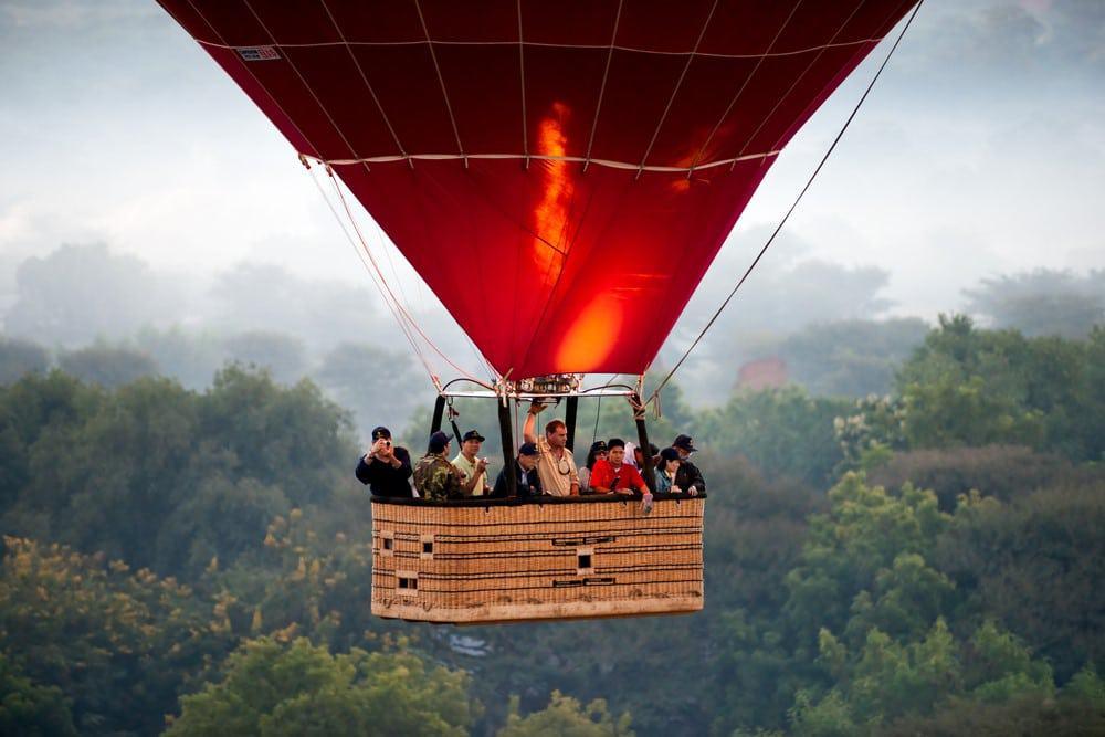 vuelo en globo en Bagan, Myanmar