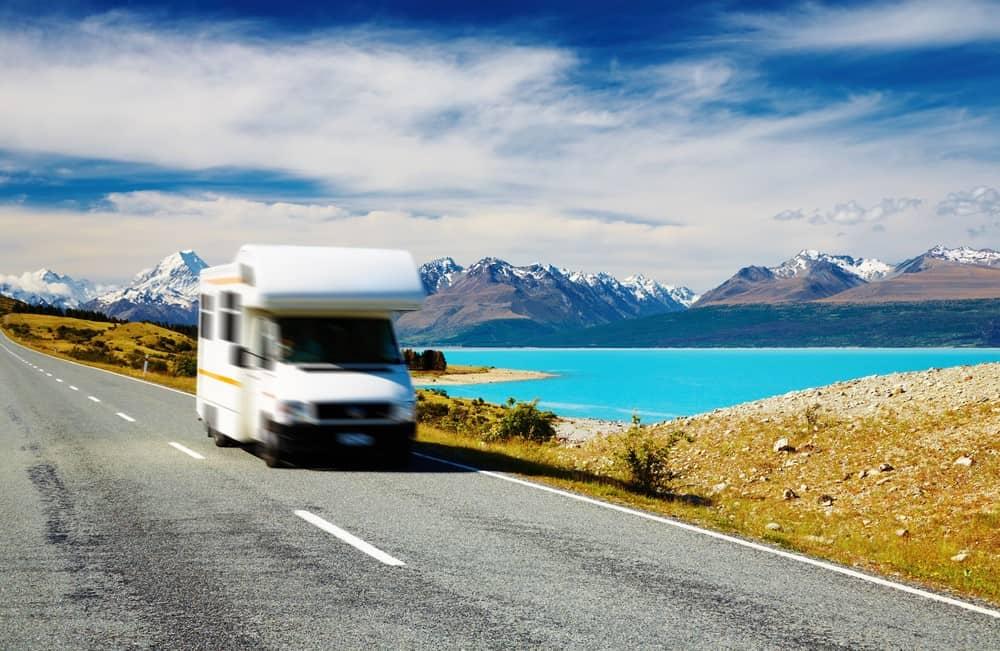 viajar en furgoneta en Nueva Zelanda