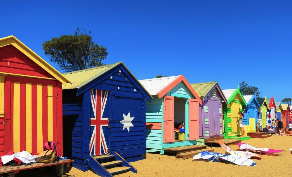 casas de colores de Brighton Beach