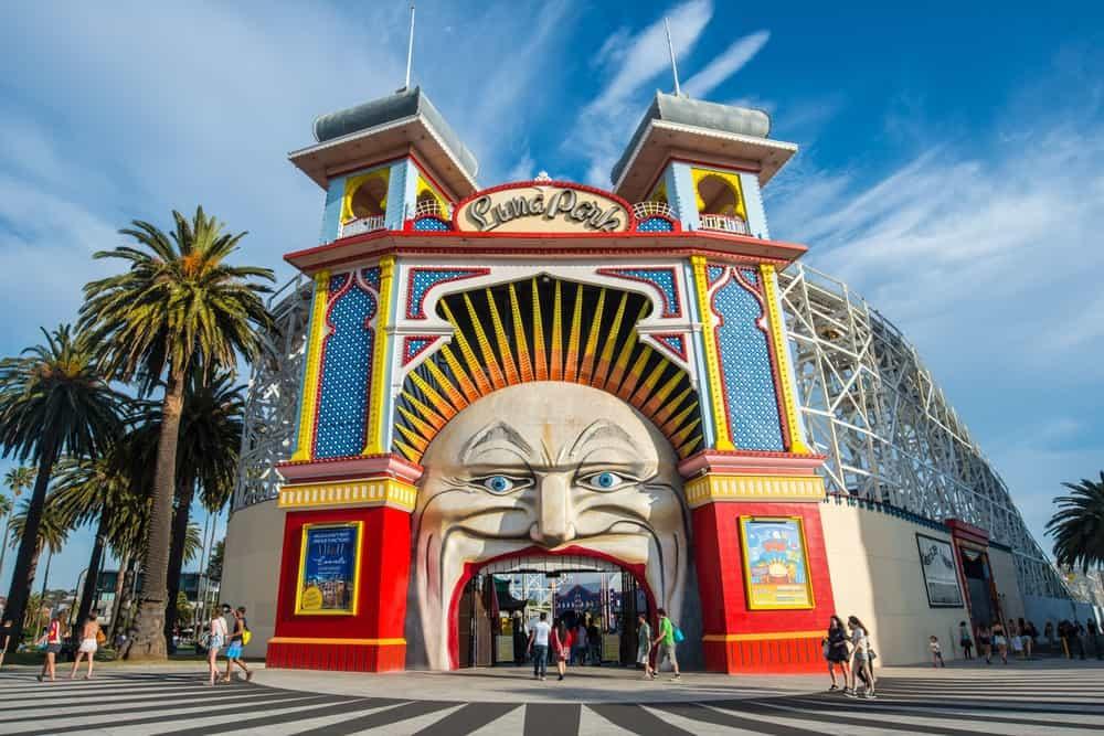 Luna Park de Melbourne junto al Santa Kilda