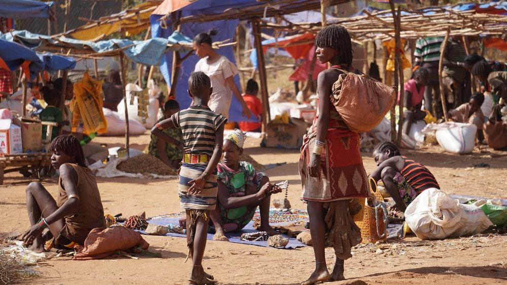 mercados del Valle del Omo en Etiopía
