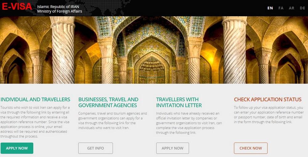 visado de Irán online