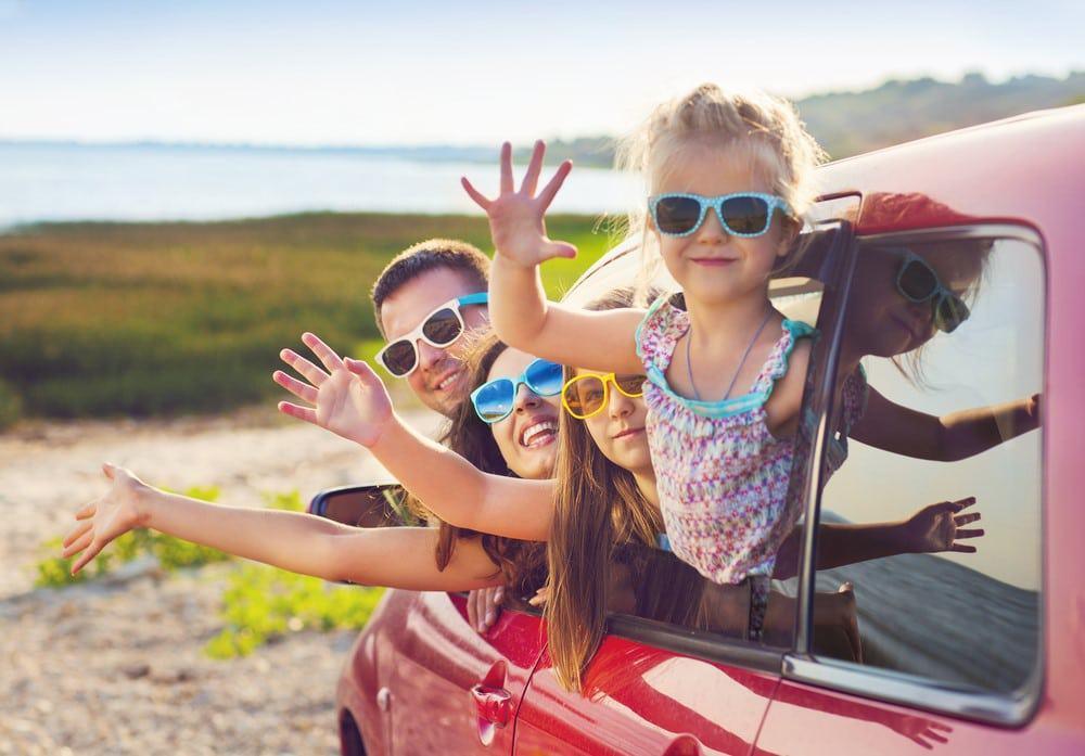 viajar en coche con niños en verano