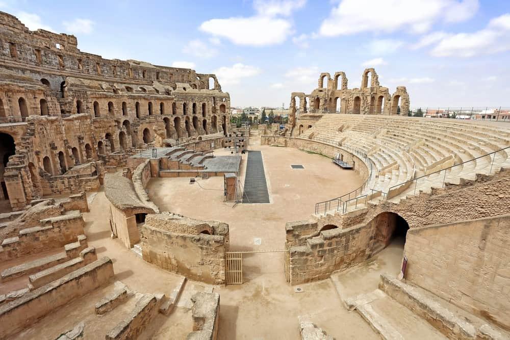 Anfiteatro romano en Túnez