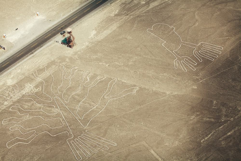 la Panamericana en su paso por Nazca, Perú