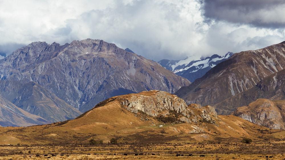 Edoras, Rohan, una de las localizaciones de El Señor de los Anillos en Nueva Zelanda