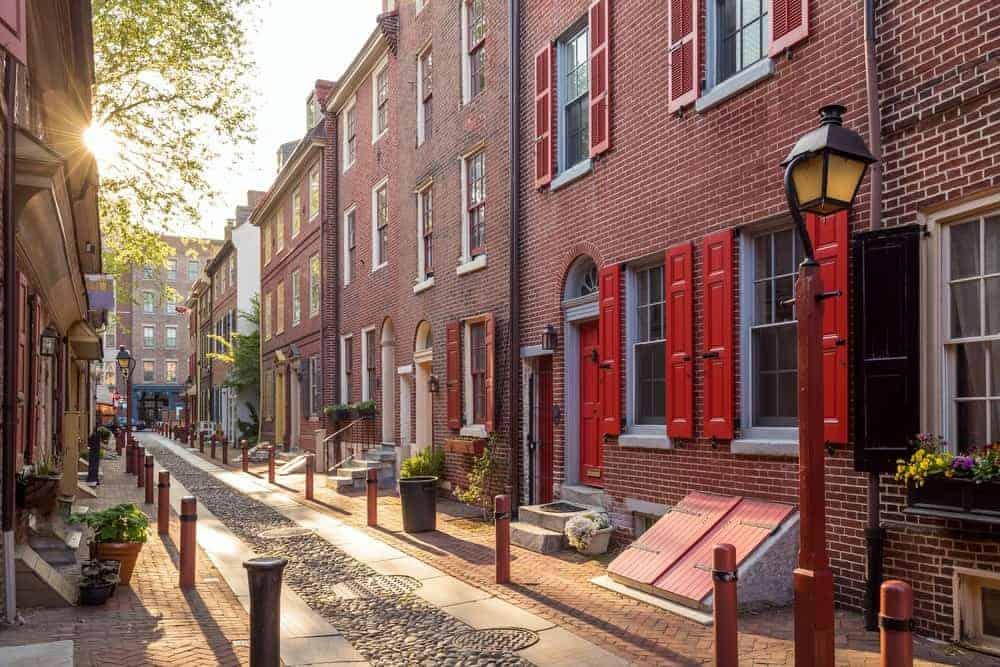 Elfreth's Alley en Filadelfia