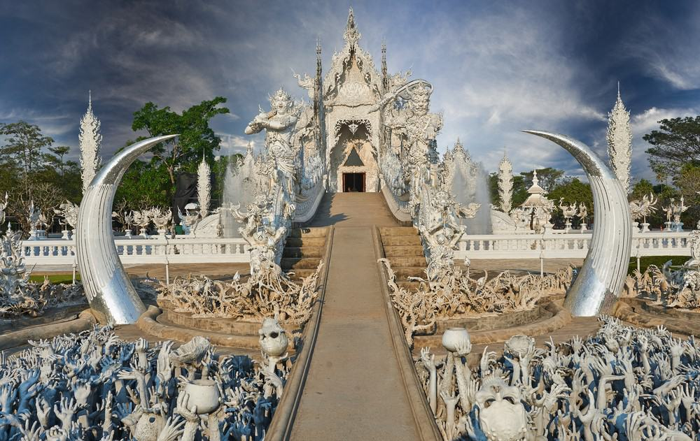 Chiang Rai, Templo Blanco, Templo Azul y Torre del Reloj