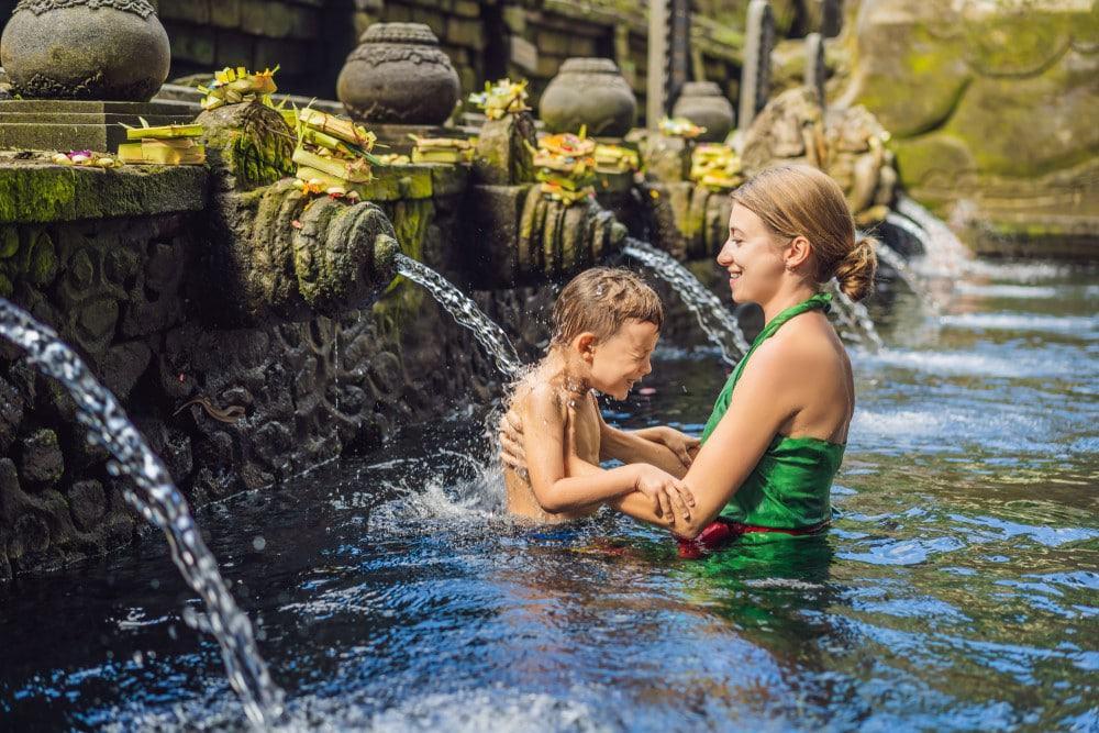 Viajar con niños a Bali