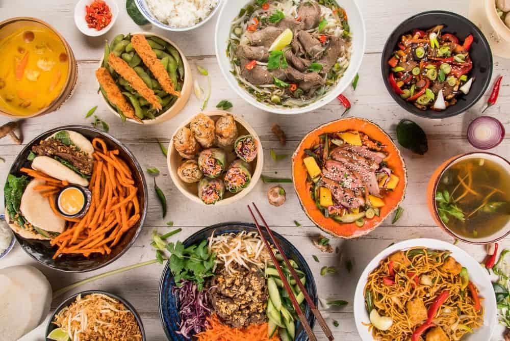 comida para niños en Asia