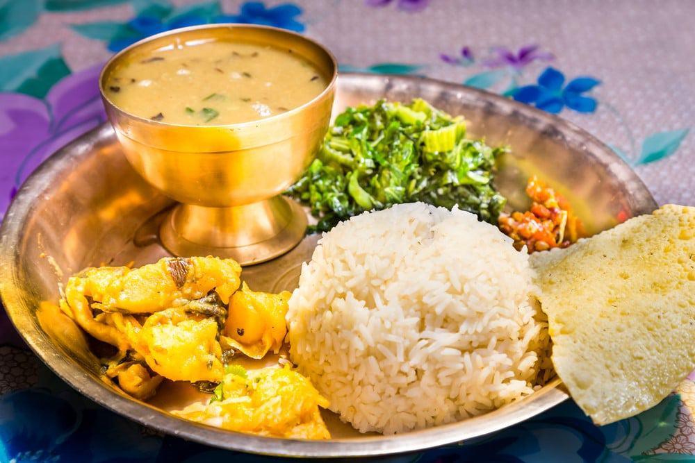 que se come en Nepal