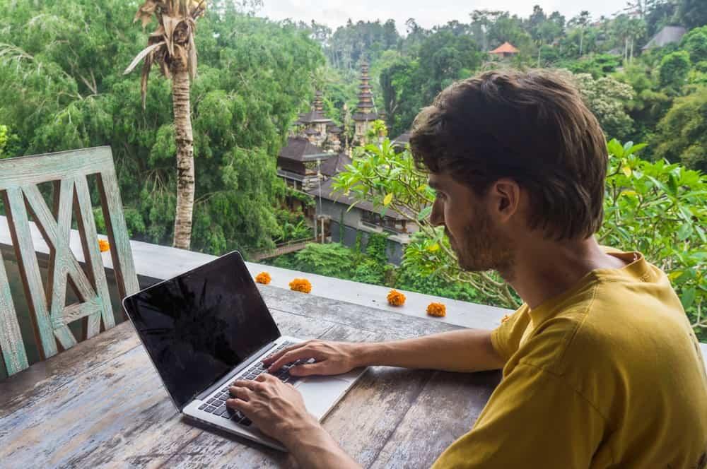 trabajar desde Bali