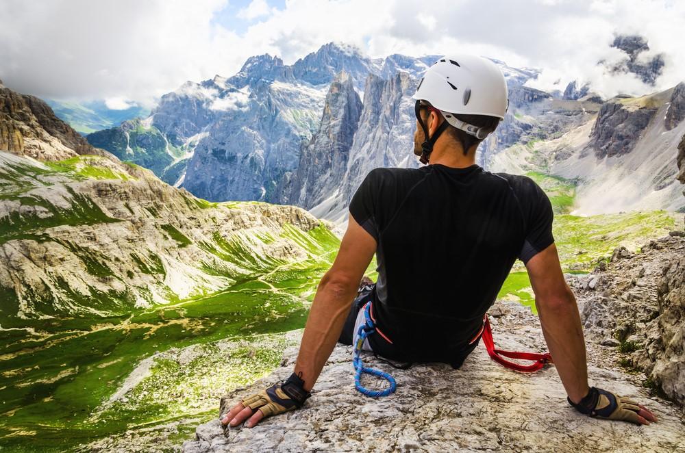 escalar en Los Dolomitas