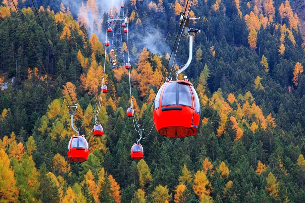 funiculares y telesillas en Dolomitas