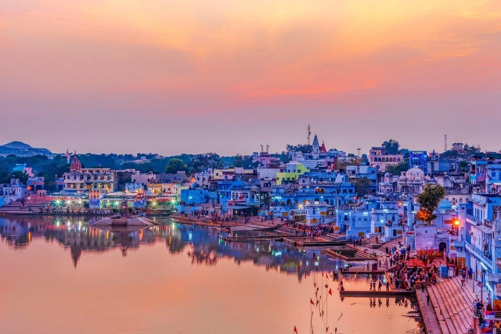 el lago sagrado de Pushkar