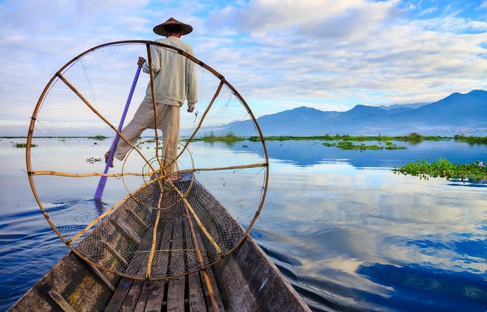lago inle en la ruta por Myanamar de 2 semanas