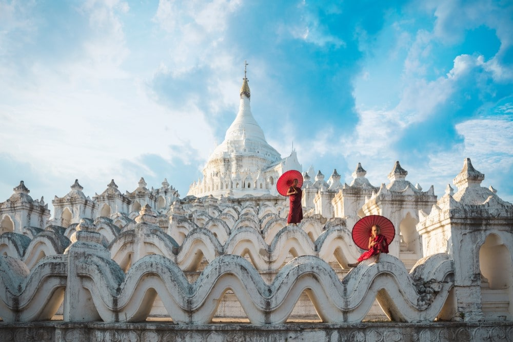Hsinbyume Pagoda en el itinerario de viaje a Myanmar