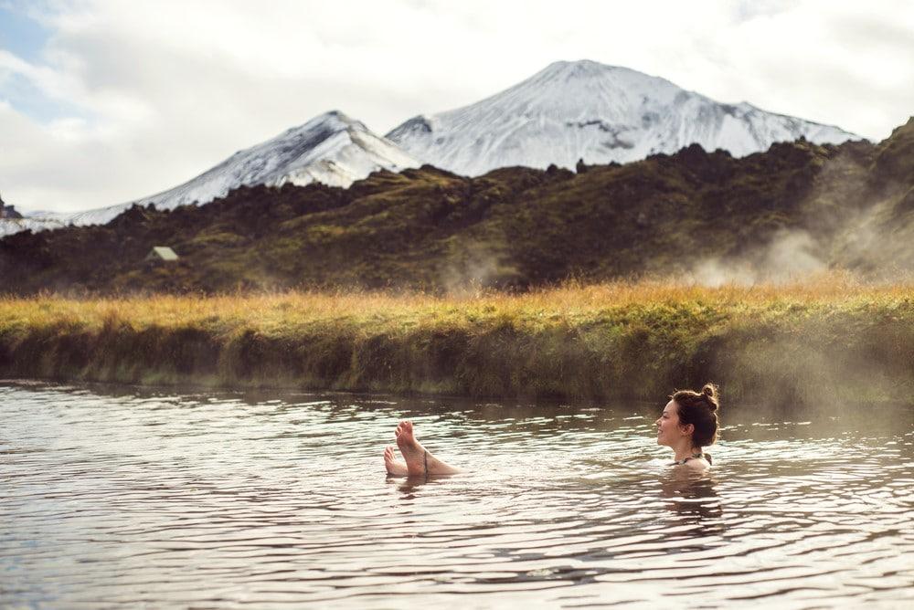 bañarse en aguas termales