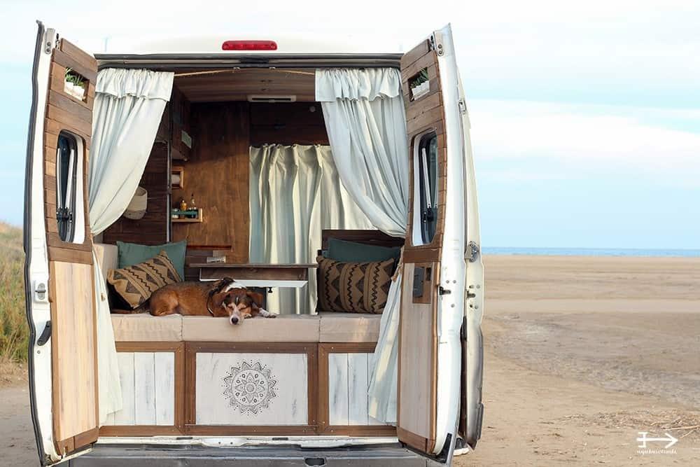 la libertad de viajar en furgoneta