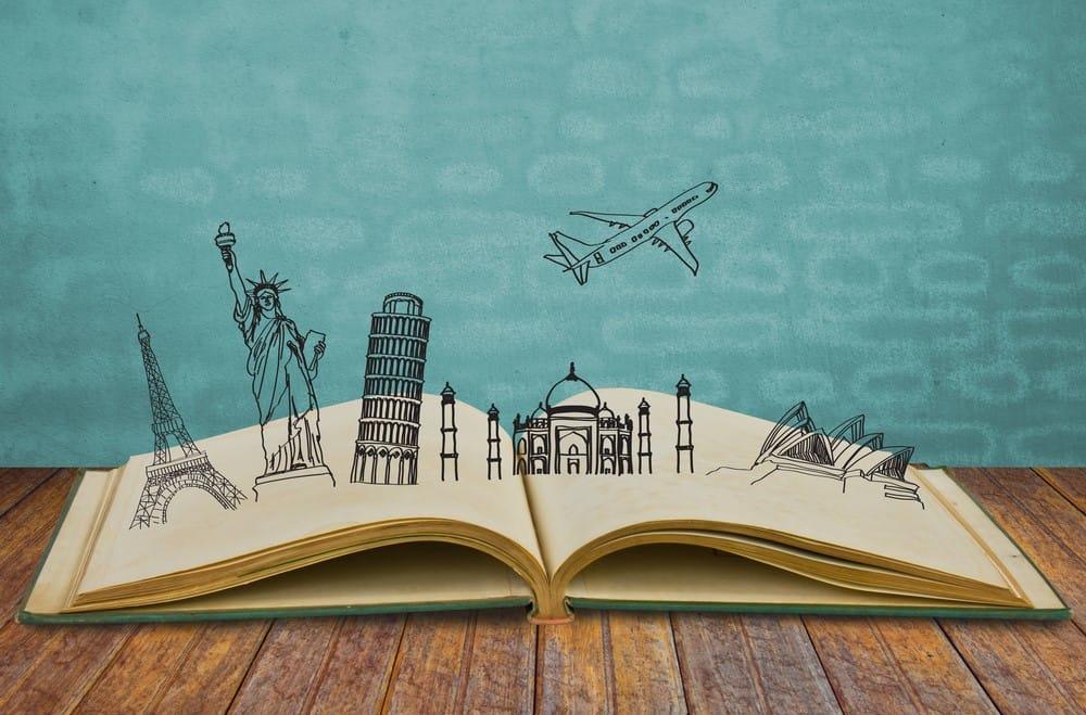 viajar desde casa con un libro