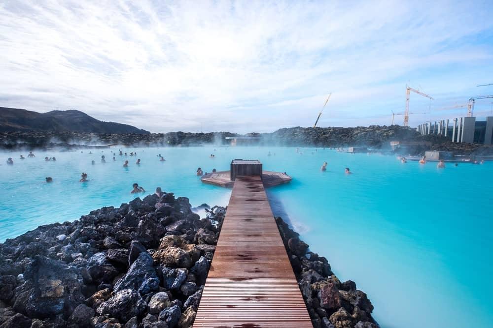 baño termal en Blue Lagoon