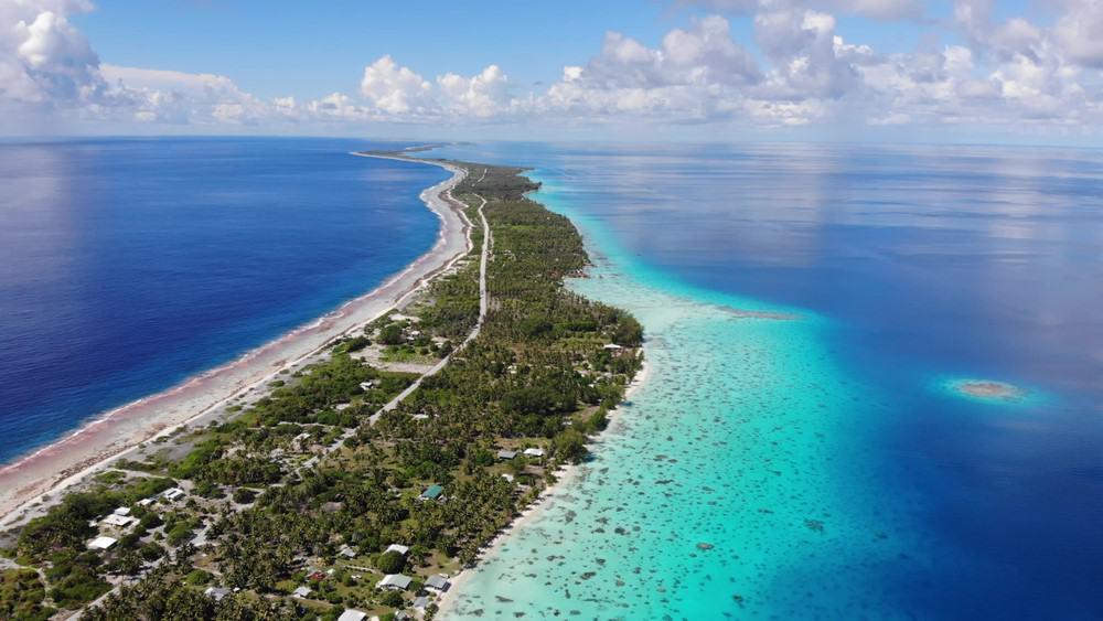 vista aérea Polinesia Francesa