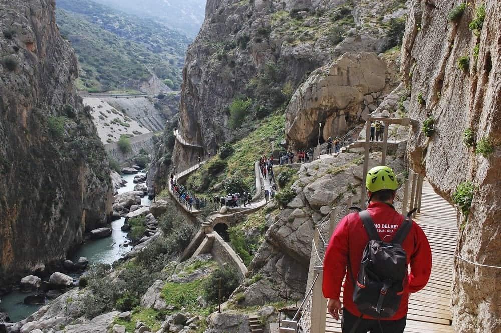 Caminito del Rey en verano, Andalucía