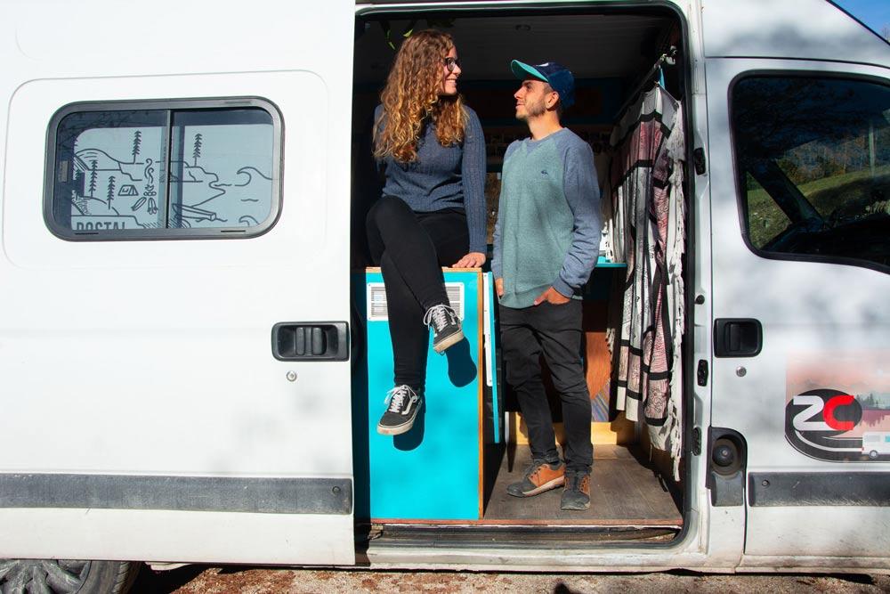 viajar en furgoneta en pareja