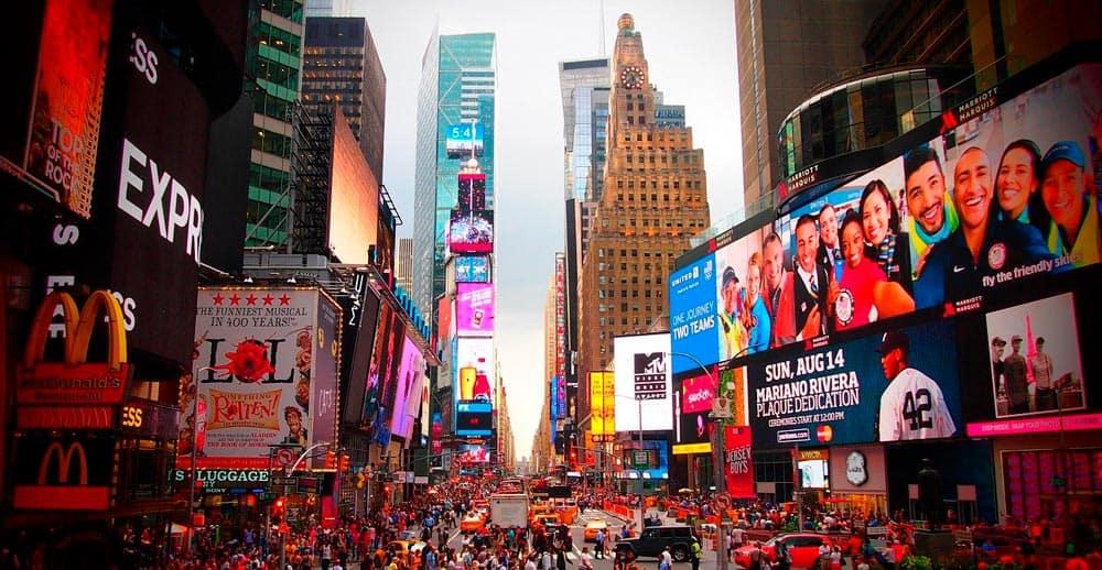 Times Square algo que ver en Nueva York sí o sí